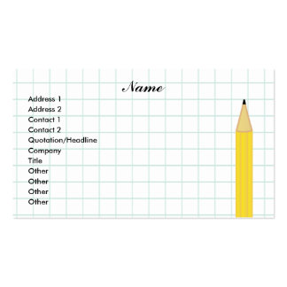 Graph Paper Double-Sided Standard Business Cards (Pack Of 100)