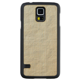 Graph Paper Carved® Maple Galaxy S5 Case