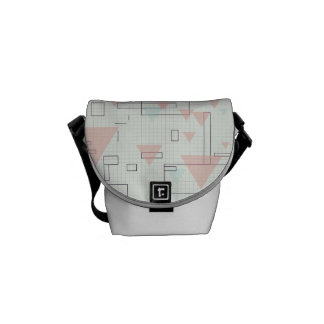 Graph PAPER of pink triangles of rectangles SIRAde Messenger Bag