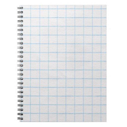 graph paper spiral note book