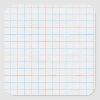 Graph Paper Square Sticker