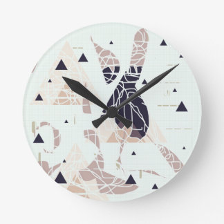 graph PAPER trifishes softly Design by SIRAdesign Round Wallclocks