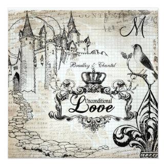 Graph Paper Unconditional Love Wedding Invite