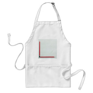 Graph paper with pencil axis apron