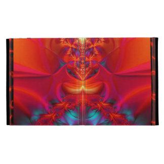 Graphi Reef Custom Case-Red Fire iPad Folio Cover