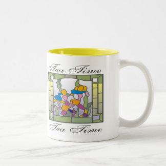 Graphic1tea time Two-Tone coffee mug