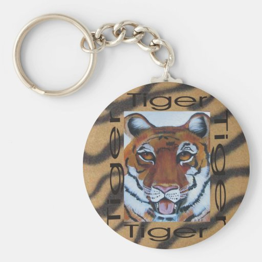 Graphic1tiger, full face key chain