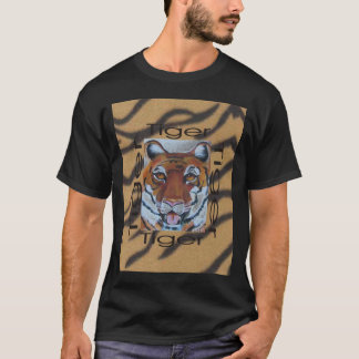 Graphic1tiger, full face T-Shirt