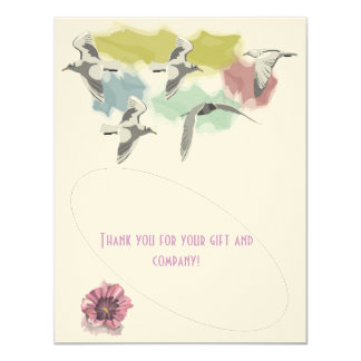 Graphic2, Thank you for your gift and company! 4.25x5.5 Paper Invitation Card