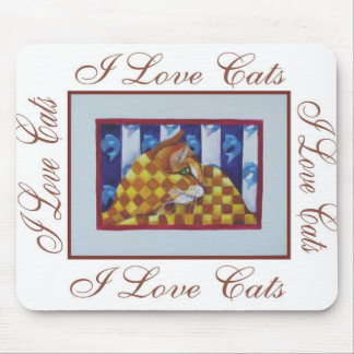 Graphic2i love cats mouse pad