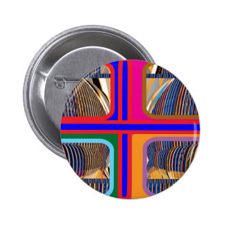 Graphic Abstract Line Art Pinback Button