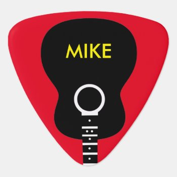 Graphic Acoustic Guitar Personalized Guitar Pick by mixedworld at Zazzle