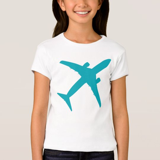 Graphic Airplane in Blue T-Shirt