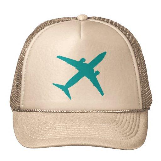 Graphic Airplane in Blue Trucker Hat