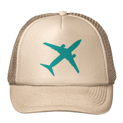 Graphic Airplane in Blue Trucker Hats