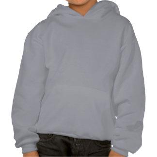 Graphic Airplane in Blue Hooded Sweatshirt