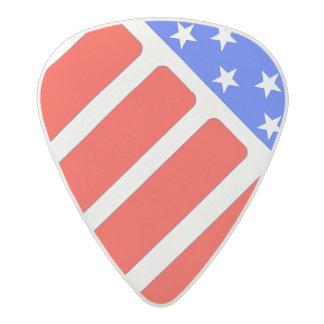 graphic American flag Acetal Guitar Pick