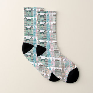 Graphic Architectural All Over Print on Socks