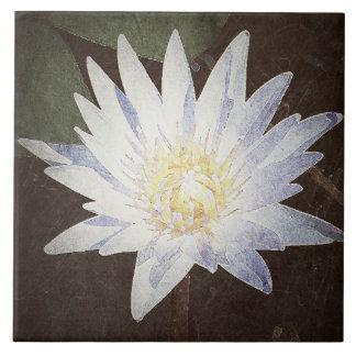 """""""GRAPHIC ART LOTUS FLOWER"""" CERAMIC PHOTO TILE"""
