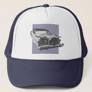 Graphic art of 1959 Chevy Impala convertible Trucker Hat