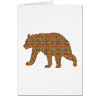 Graphic Art on Zoo  Bear WildAnimal Pet Card