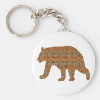 Graphic Art on Zoo  Bear WildAnimal Pet Basic Round Button Keychain