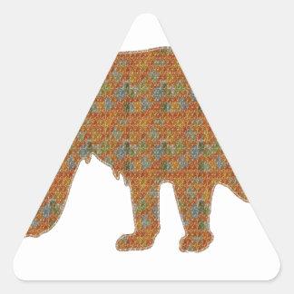 Graphic Art on Zoo  Bear WildAnimal Pet Triangle Sticker