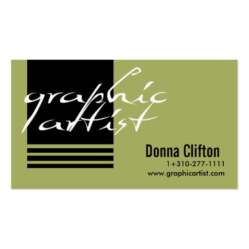 Graphic artist business card templates zazzle for Artist business card template