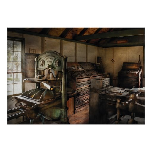 Graphic Artist - The Printing Shop Poster