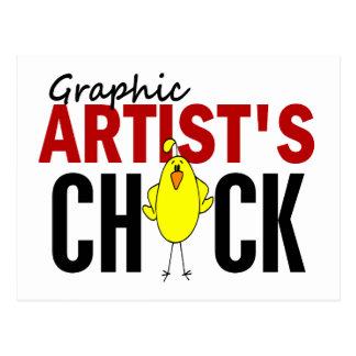 Graphic Artist's Chick 1 Postcard