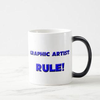 Graphic Artists Rule! 11 Oz Magic Heat Color-Changing Coffee Mug