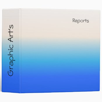 Graphic Arts Blue & White Personal Binder