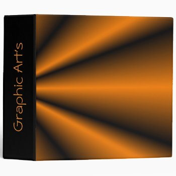 Graphic Arts Orange & Black Star Burst Binder