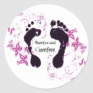 Graphic Barefoot Stickers