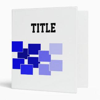 graphic blue binder