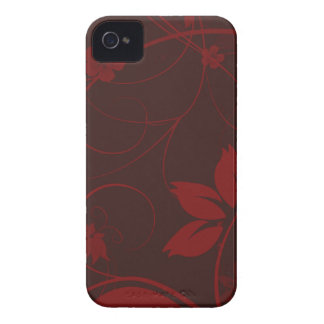 Graphic Burgundy Foral iPhone 4/4s Case