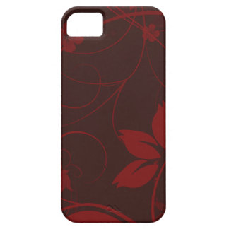 Graphic Burgundy Foral iPhone 5 Case