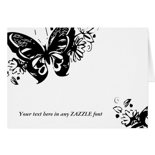 GRAPHIC BUTTERFLY ADD PHOTO CARD