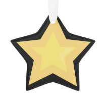 GRAPHIC CARTOON STAR CHRISTMAS HOLIDAY ORNAMENT
