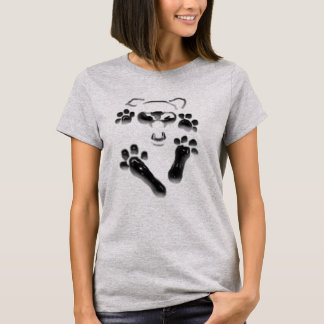 Graphic Cat Paw prints imprint shirts