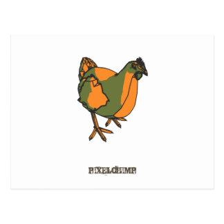 Graphic Chicken Postcard