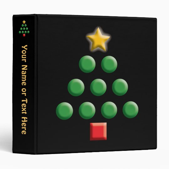 Graphic Christmas Tree 3 Ring Binder