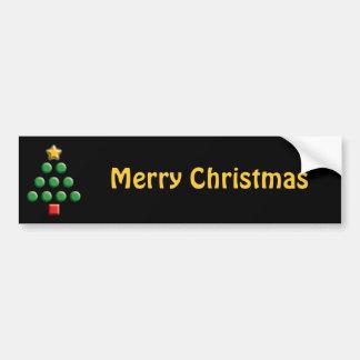 Graphic Christmas Tree Bumper Sticker
