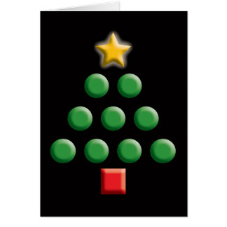 Graphic Christmas Tree Greeting Card