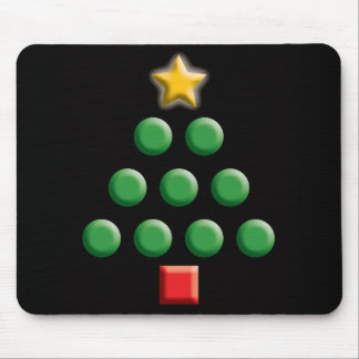 Graphic Christmas Tree Mouse Pad