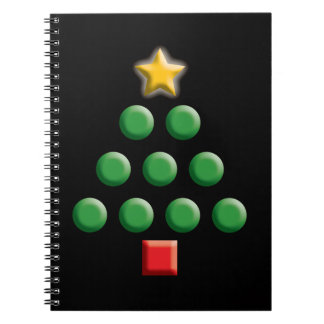 Graphic Christmas Tree Spiral Notebook