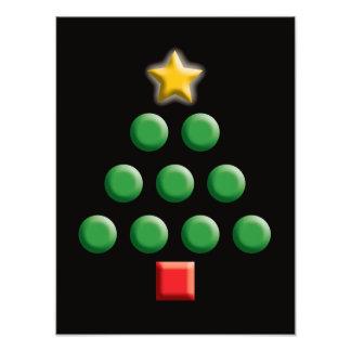 Graphic Christmas Tree Photo Print