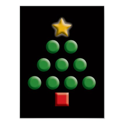 Graphic Christmas Tree Print
