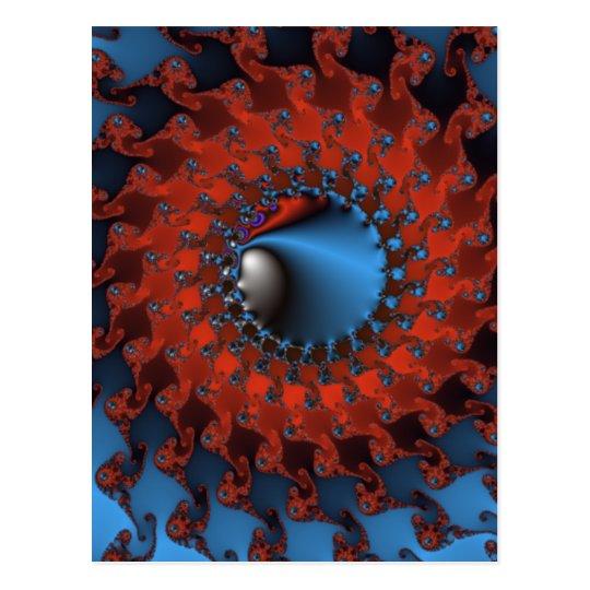 Graphic Circle Postcard