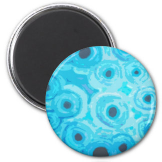 Graphic Circles - BLUE Fridge Magnets